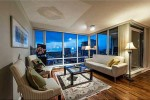Living Room at 3105 - 455 Beach Crescent, Yaletown, Vancouver West