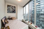 Den large enough to convert to second room or office! at 2302 - 788 Hamilton Street, Downtown VW, Vancouver West